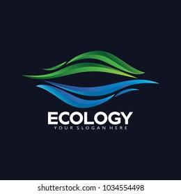 Mountain Sea Nature Logo Icon