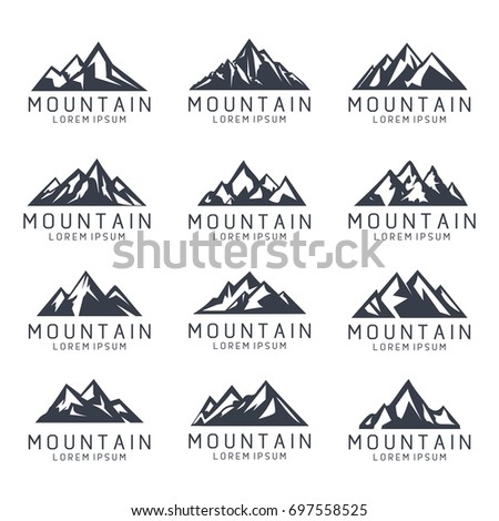 mountain shape icon logo template stock vector royalty free