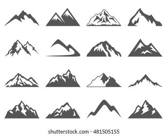 Горные фигуры для логотипов