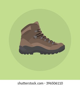 mountain shoes boot isolated icon style