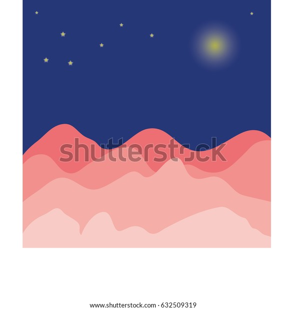 Mountain and sky at night