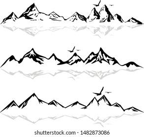 Mountain Skyline Landscape Vector Silhouette