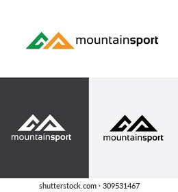 Mountain, Sports and outdoor travel logo template