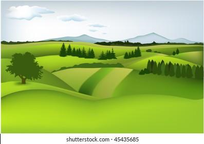 Mountain spring landscape