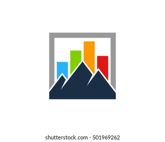 Mountain Stats Logo Design Template