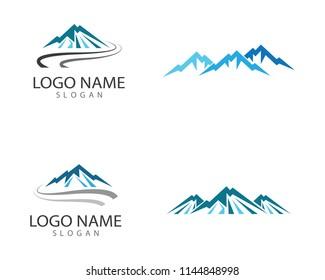 Mountain symbol illustration