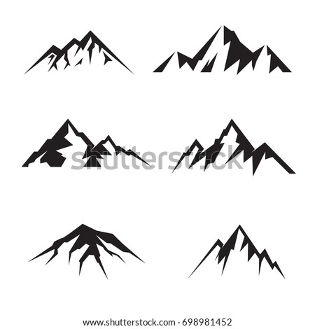 mountain template vector logo stock vector royalty free 698981452