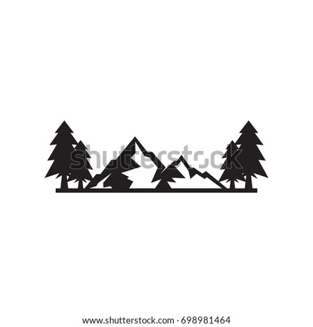 mountain template vector logo stock vector royalty free 698981464
