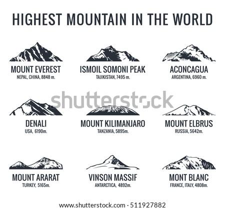 Mountain tourist vector logos