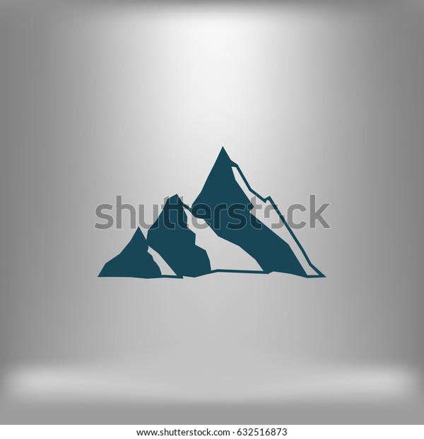 Mountain vector icon - stylized image