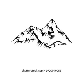 Mountain vector illustration, nature icon for logo elements