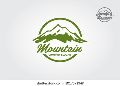 Mountain vector logo illustration. Multipurpose logo for your business.
