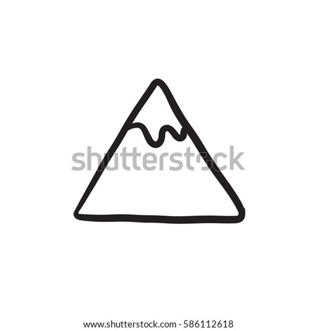 Mountain Vector Sketch Icon Isolated On Stock Vector