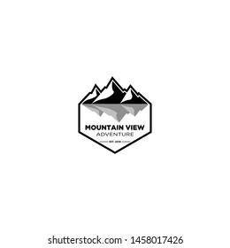 mountain view logo design template