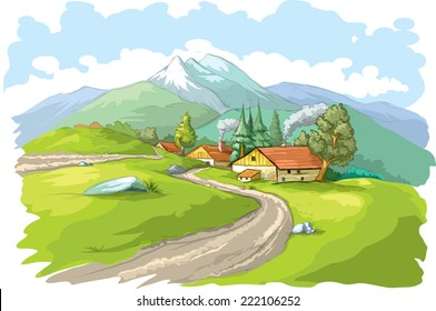 Mountain village.