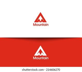 Mountain web Icons and vector logo