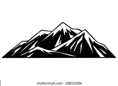 mountain outline images stock photos amp vectors shutterstock