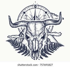 Buffalo Tattoo Images Stock Photos Vectors Shutterstock