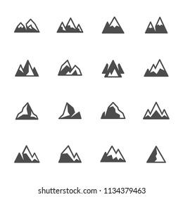 Mountains icon set
