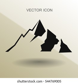 Mountains icon vector illustration