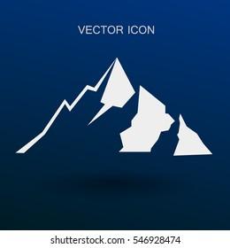 Mountains icon vector illustration