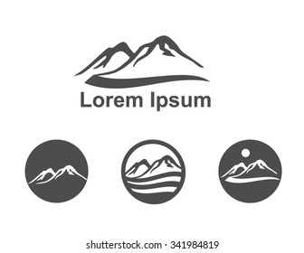 Mountains Icons - logo design elements