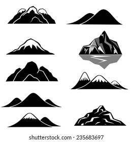 Mountains icons.vector