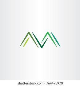 mountains letter m symbol logo vector
