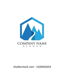 Mountains Logo Template Vector Icon