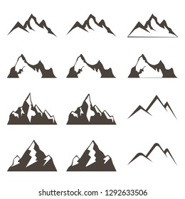 Mountains for logo. Vector illustration