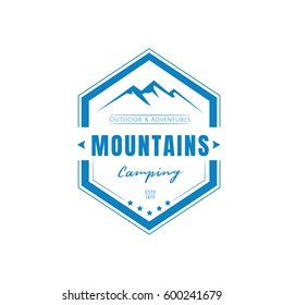 Mountains Logos,badges and labels Vector.
