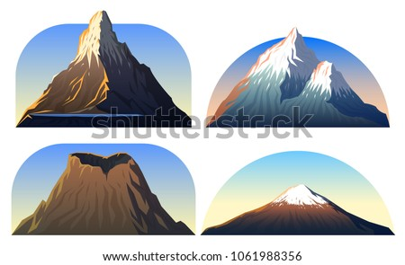 Mountains Peaks landscape early