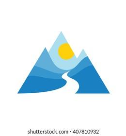 Mountains vector icon.?