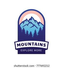 Mountains vector icon.