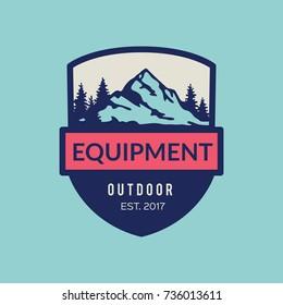 Mountains vector icon. Equipment outdoor.