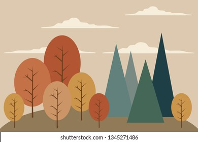 Mountains&forest landscape, kid's room wall decoration, mural