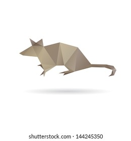 Mouse abstract isolated on a white backgrounds