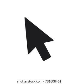 mouse arrow icon, computer mouse arrow cursor vector icon, flat design best vector mouse cursor illustration