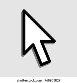 Mouse arrow vector icon.