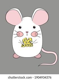 mouse cartoon cheese anime cuite