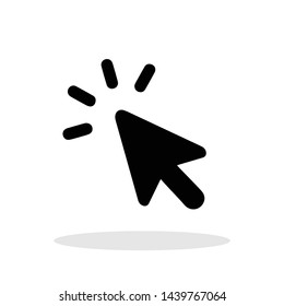 Mouse click icon in trendy flat style. Click symbol for your web site design, logo, app, UI Vector EPS 10.