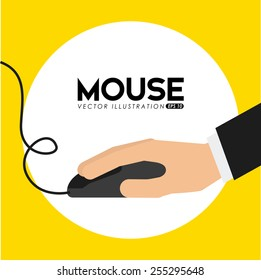 mouse computer design, vector illustration eps10 graphic