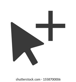 Mouse cursor icon with a copy symbol in vector