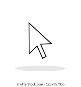 Mouse cursor icon in trendy flat style. Vector Illustration EPS 10.