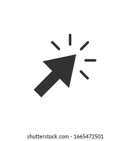 Mouse cursor simple icon pointer sign vector