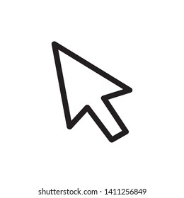mouse cursor symbol - arrow click pointer illustration isolated