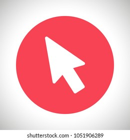 Mouse cursor vector icon, arrow icon, pointer