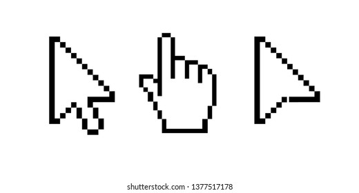 Mouse cursor vector icons.
