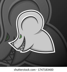 Mouse Evil Head. Logo Mascot Cartoon. Esport, Team, Game, Asset, Sticker, Print.