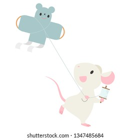 mouse fly a kite
